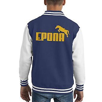 Legend Of Zelda Epona Yellow Text Kid's Varsity Jacket