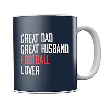 Great Dad Great Husband Football Lover Mug