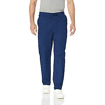Essentials Menn's Quick-Dry Stretch Scrub Bukse, Navy, XX-Large