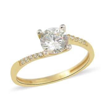 9ct Yellow Gold Bypass Ring for Women TJC