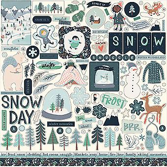 Carta Bella Snow Much Fun 12x12 Inch Element Sticker