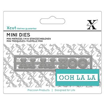 Xcut Mini Sentiment Die Oh La La (XCU 504128)