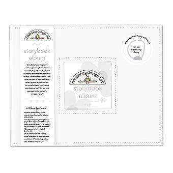 Doodlebug Design Lily White 8x8 Tuuman Satukirja Albumi