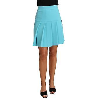 דולצ ' ה & גבאנה אור כחול צמר קריסטל A-line קפלים החצאית--SKI1942768