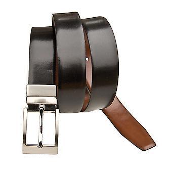"""Primehide Mens Vändbart läderbälte Svart / Brun 1,4"""" (34mm) Kostym Bälte"""