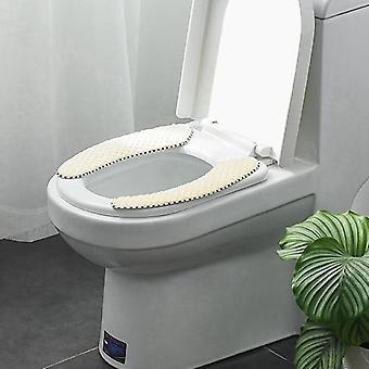 Universele, winter toiletbril cover-warm en zacht pluche, ritsmat