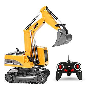 2.4ghz 6 Channel 1:24 Rc Excavator Toy - Rc Engineering Car , Alloy And Plastic