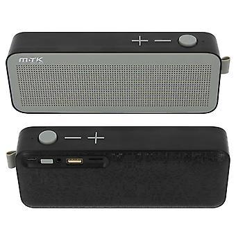 Bluetooth högtalare ljud micro-SD USB-nyckel Jack 3.5 mm mikrofon FM-radio svart
