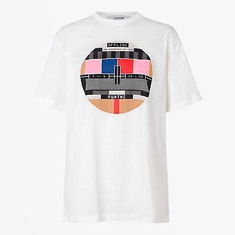 Munthe  - Lavender - Graphic T-Shirt - White