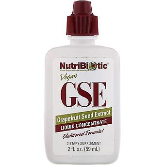 NutriBiotic, Vegan GSE Grapefruit Seed Extract, Liquid Concentrate, 2 fl oz (59