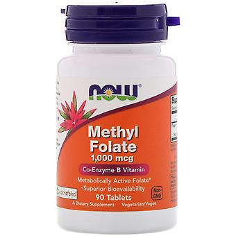 Nu voedingsmiddelen, methyl foliumzuur, 1.000 mcg, 90 tabletten