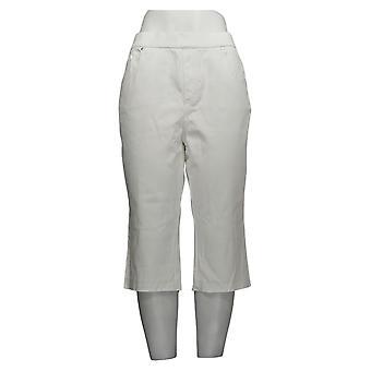 Belle by Kim Gravel Women's Jeans Flexibelle Release-Hem White A351266