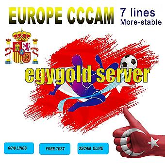 Cccam Cline For 1-year Europe 7-lines Cccam Cline-turkey-portugal-spain-germany-italy-poland  Full Hd Dvb-s2