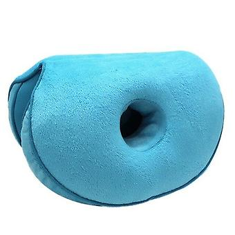 Multifunction, Dual Comfort Plush Cushion And Folding Pillow For Car Seat,