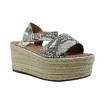 Steve Madden Womens Cabo Leather Open Toe Casual Platform Sandals