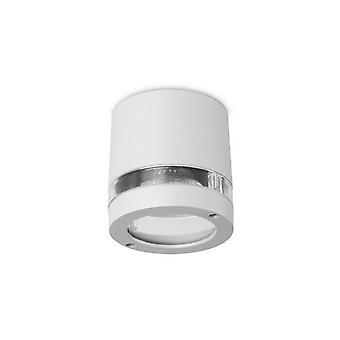 Forlight Selene - Badkamer Flush Ceiling Surface Mounted Light Selene Grey 1x GU10 IP54