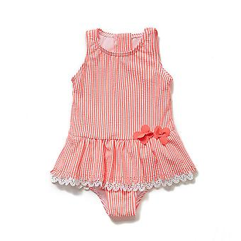Bonverano Baby Girls Sunsuit UPF 50+ Zipper Ruched Swimwear Forrado Swimdress