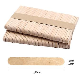 50pcs Wooden Popsicle Stick - Kids Hand Crafts Art Ice Cream Lolly & Cake Diy.