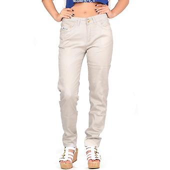Slim Skinny Stretchy Fitted Trousers Coloured Jeans