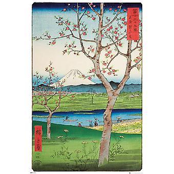 Hiroshige The Outskirts of Koshigaya Maxi Poster