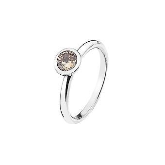 Emozioni Sterling Silver Cubic Zirconia Loyalty Ring ER016