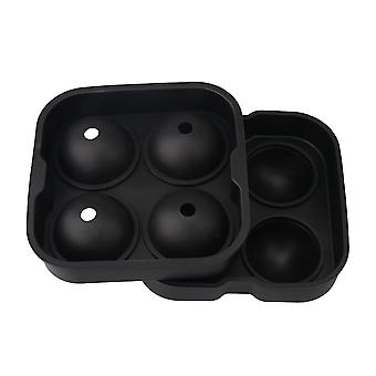 Silicone Ice Cube Tray Maker Black Color for Whiskey Circle Type 4 Cube