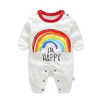 Cute Cartoon Printed, Winter Warm Rompers For Newborn Babies
