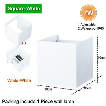 Led Wall Light Ip65 7/10w  Waterproof Outdoor Indoor Led -wall Lamp Modern Aluminum Adjustable Angle