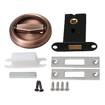 Red Bronze 75mm OD Round Invisible Door Lock Handle with Lock