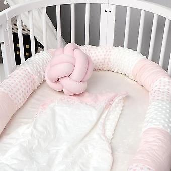Newborn Bed Crib Bumper- Long Pillow For Toddler Sleeping Cushion Cot Fence