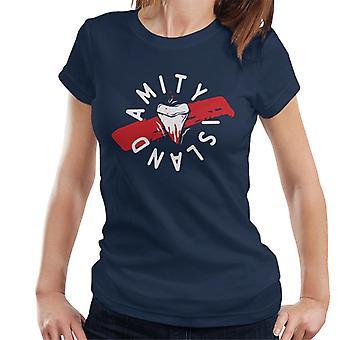 Käkar Tand Amity Island Kvinnor's T-Shirt