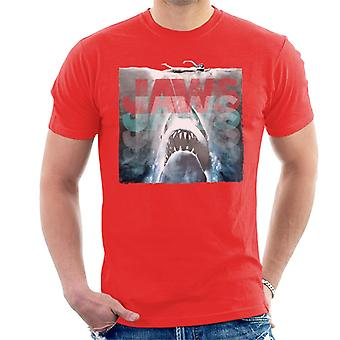 Jaws Layered Text Logo Men's T-Shirt