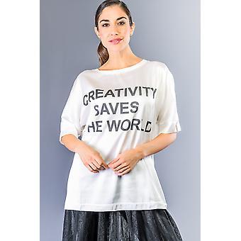 Tops e camisetas brancas de Bianco