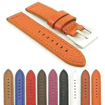Strapsco dassari baron thick textured leather strap