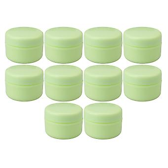 10x contenedores cosméticos de plástico vacío redondo 10g tarro verde para bálsamo labial