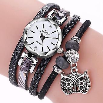 DUOYA Cute Style Owl Pendentif Dames Bracelet Montre Femmes Montre de poignet femmes