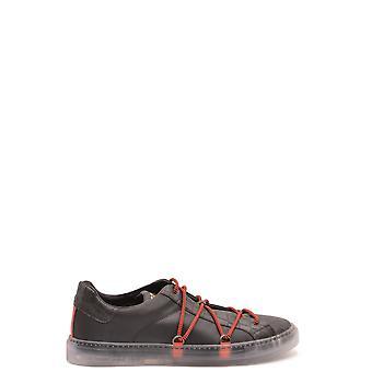 Hide&jack Ezbc463002 Men's Black Leather Sneakers