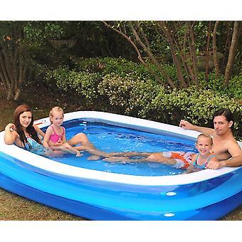 Suorakulmainen puhallettava uima-allas perheelle