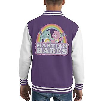 Hoito karhut cheer karhu ja toive karhu Marsian Babes Kid's Varsity Takki