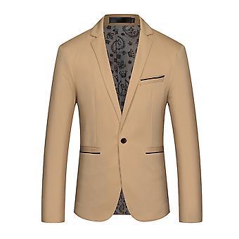 Allthemen Men's Slim Fit One Button Blazer Jacket Casual Suit Jacket