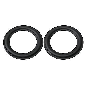 2x Speaker Horn Perforated Rubber Edge Rings Replacement Black 5 Inch