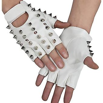 Children's Punk Rivet Faux Leather Glove, Kids Dancing Rock And Roll Jazz