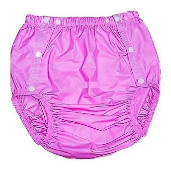 Calças de fraldas de plástico adultas não descartáveis pink-m