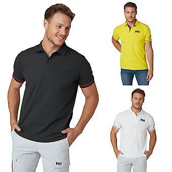 Helly Hansen Herre HH UPF30+ Kort ærme rib krave 3 knap polo shirt