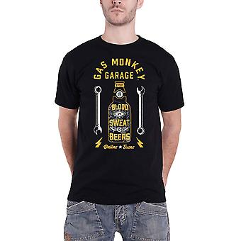 Gas Monkey Garage T Shirt Work and Play GMG Logo new Official Mens Black