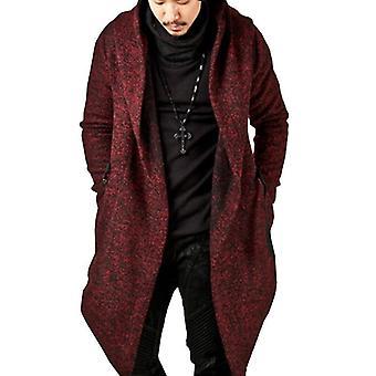 Men Jacket Autumn Hoodie Long, Plus Size Coat