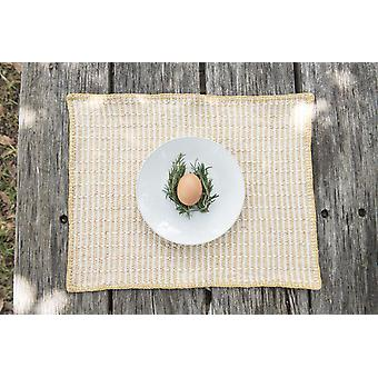 Embroidered Pitaya Yellow Placemat  (set Of 4)