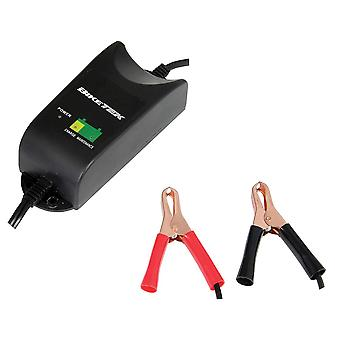 BikeTek 12V 1A 9-Stage Motorcycle Battery Charger With UK Plug