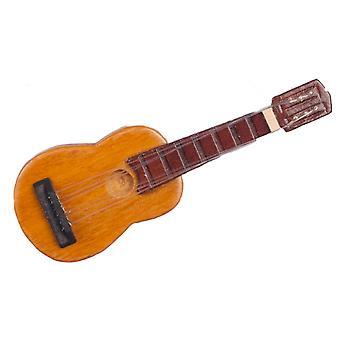 Dolls House Miniatyyri 1:12 Vaa'an musiikkihuoneen lisävaruste puinen akustinen kitara