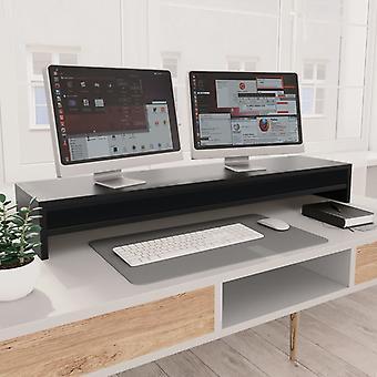 Monitor stand Black 100×24×13 cm chipboard